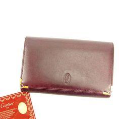 Auth Sale Cartier wallet Must Line Women''s used J12999