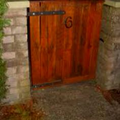Gate made from repurposed wood pallet