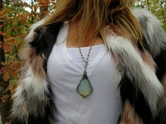 ~ Boho Chic Statement Necklace ~ Fall fashions perfection! www.etsy.com/shop/bohemiansagejewelry