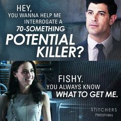 """S3 Ep5 """"Paternis"""" - Best  giver goes to... Detective Fisher. #Stitchers"""