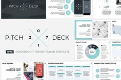 Pitch Deck 2017 PowerPoint Template by CreativeSlides on @creativemarket