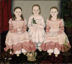 Susan Catherine Moore Waters, The Lincoln Children (1845)