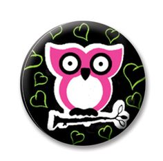 "Owl (Magnetic) Design insert that fits into 1""Magnabilities interchangeable jewelry."