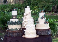 Four designs for a woodland, nature wedding photo shoot.