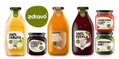 + Design de embalagem :     O designer Peter Gregson foi o responsável pelo redesign da marca de sucos e produtos naturais/organicos ZdravoOrganic.