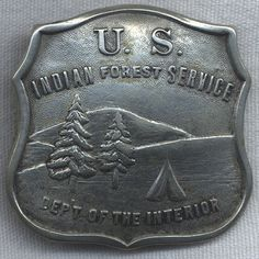 Early US Indian Forest Service Badge Converted to Belt Buckle
