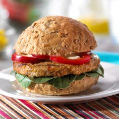 Morningstar Farms® Veggie Burger with Arugula and Spicy Mustard