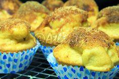 Terapia do Tacho: Muffins de batata doce com cobertura de açúcar e canela (Sweet potato muffins with cinnamon and sugar crust)