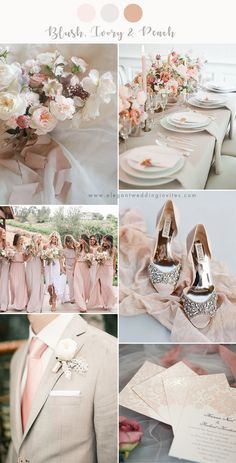 chic and stylish blush and ivory neutral wedding color combos wedding themes 7 Stunning Wedding Color Palettes with Blush Pink Popular Wedding Colors, Neutral Wedding Colors, Spring Wedding Colors, Wedding Color Schemes, Colors For Weddings, Spring Wedding Dresses, Perfect Wedding, Dream Wedding, Wedding Day