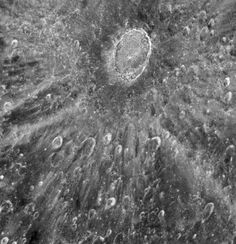 Crater Tycho on the Moon - D. Ehrenreich/ESA/NASA