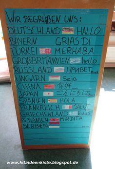 Wisst ihr welche Familiensprache die Kinder zu Hause sprechen? Wie viele Nationen habt ihr in eurer Einrichtung? Welche Herkunftsländer k...