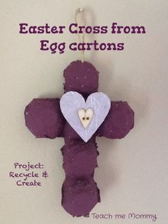 egg carton cross