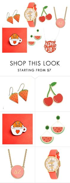 """""""56"""" by lena11808 on Polyvore featuring мода, Georgia Perry, Mercedes Salazar, LogoArt, Kate Spade и Initial Reaction"""