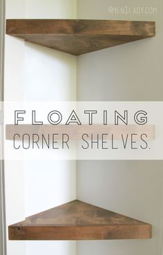 How to make Corner Floating Shelves - detailed instructions