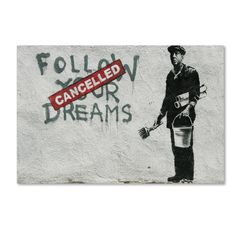 Banksy 'Cancelled Dreams' Canvas Art