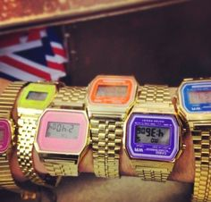 Coloured vintage gold Casio watch - Absolute Vintage London