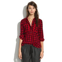 Flannel Popover in Buffalo Plaid