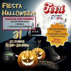 El 31 de octubre pasarás una TARDE TERRORÍFICA en Ferri. #halloween