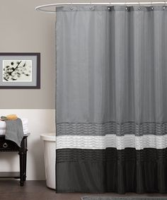 Gray Mia Shower Curtain by Lush Décor