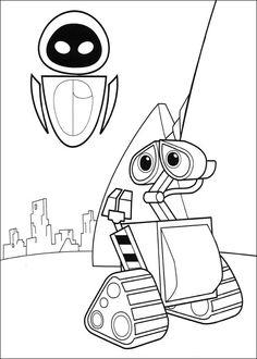 Wall-E Tegninger til Farvelægning. Printbare Farvelægning for børn. Tegninger til udskriv og farve nº 3