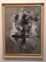 Dorothea Tanning - A Mi Voix. 'I just wanted to paint a white and grey picture that would still have colour in its veins as we have blood under our winter-white skin'