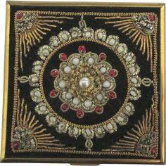 Elegant Ornate Vintage Compact by Volupte