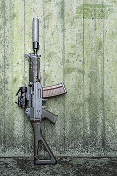 SIG 553-1 SB with B&T Rotex V http://riflescopescenter.com http://riflescopescenter.com