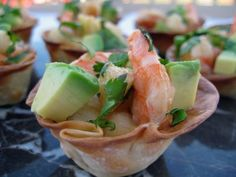 To make the shrimp, press egg roll wrappers into petite muffin tin cups and bake at 350 degrees until crisp and lightly browned, about 10 minutes. Remove from oven and let cool. Fill with Mock Shrimp Ceviche. Tuna Tartare  Print Prep time 10 mins Total time 10 mins  Recipe type: Appetizer,Salad Serves: 8-16 …