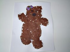 Teddy Bear Mosaic Craft: printable line drawing to copy onto cardstock, then have kids tear construction paper into pieces and glue in the shape of the bear. This was the arts and crafts activity for our bear-themed French storytime. Bear Crafts Preschool, Fall Preschool, Preschool Activities, Abc Crafts, Alphabet Crafts, Color Activities, Teddy Bear Crafts, Teddy Bear Day, Toddler Art