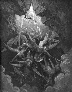 """Gustave Doré - """"La bouche de l'Enfer"""" (1868) - Le Paradis perdu (Paradise Lost)…"""