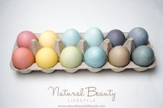 Natural Easter Egg Dyes DIY Recipes   http://naturalbeautylifestyle.com/diy-recipes/natural-easter-egg-dyes-diy-recipes/
