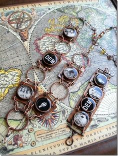 Resin Jewelry with copper pipe bezels tutorials