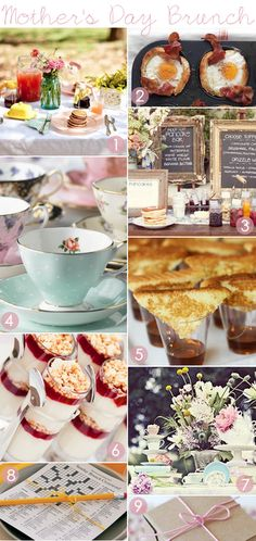 Check out this cute Mother's Day brunch full of cute details and single-serving portions!