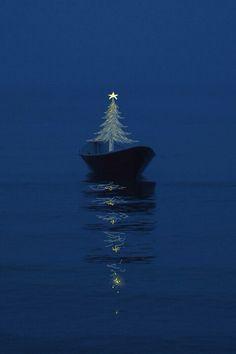 Christmas at sea.