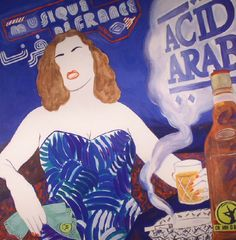 The artwork for the vinyl release of: Acid Arab - Musique De France (Crammed Discs) #music Leftfield