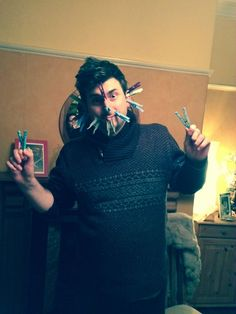 Now how many pegs can L.A fit on his face before the pain overwhelms him.