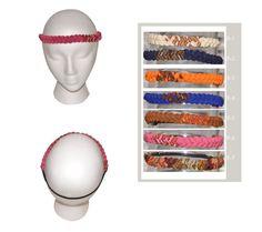 Boho headband Thin Hippie Headbands Bohemian Braided by IKALA