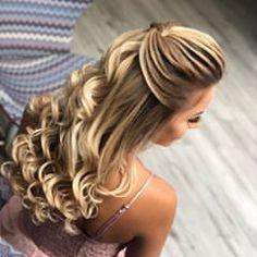 Hair Design For Wedding, Messy Wedding Hair, Bridal Hair, Down Hairstyles, Pretty Hairstyles, Braided Hairstyles, Wedding Hairstyles, Low Lights Hair, Light Hair