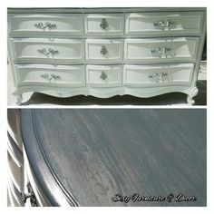 French provencial dresser white and grey stained