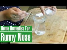 How To Stop A Runny Nose (Rhinorrhea) Fast Home Remedy For Cough, Cold Home Remedies, Cough Remedies, Natural Health Remedies, Herbal Remedies, Runny Nose Remedies, Nose Allergy, Ginger Benefits, Natural Treatments