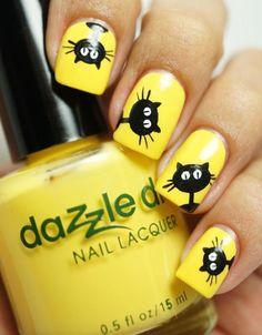 Ideas para pintar tus uñas de color amarillo - Yellow Nails | Decoración de Uñas - Manicura y NailArt