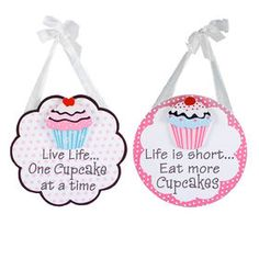 10 X 10-in Live Cupcakes Wood Plaque