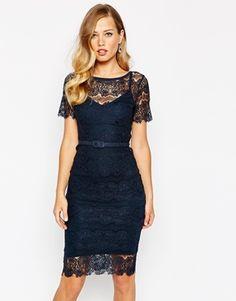 ASOS Body Frock Lisa Dress In Lace