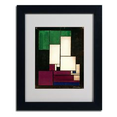 Composition 1922 by Theo van Doesburg Matted Framed Painting Print