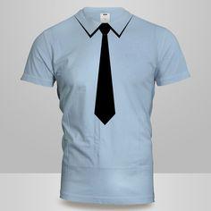 Camisa com gravata em Filme PU preto