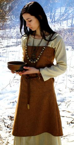 Scandinavian Apron Dress Early Medieval  by SlavMedievalShop, $89.00