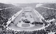 On April Athens hosted the first Olympiad of the modern era. This photo shows the opening ceremonies at Panathinaiko (Panathenaic) Stadium. When Athens hosted the 2004 Summer Games, the athletes ran on this same track. 1896 Olympics, Olympics Opening Ceremony, Today In History, Summer Games, Summer Dream, Athens Greece, Summer Olympics, Olympic Games, Back In The Day