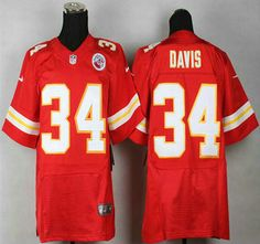 Nike Kansas City Chiefs Jersey 34 Knile Davis Red Elite Jerseys