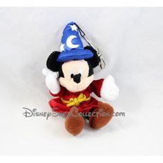 Porte clés peluche Mickey DISNEYLAND PARIS magicien Fantasia chapeau 20 cm20