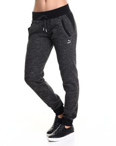 Puma - Women Black Space Dye Sweat Pants